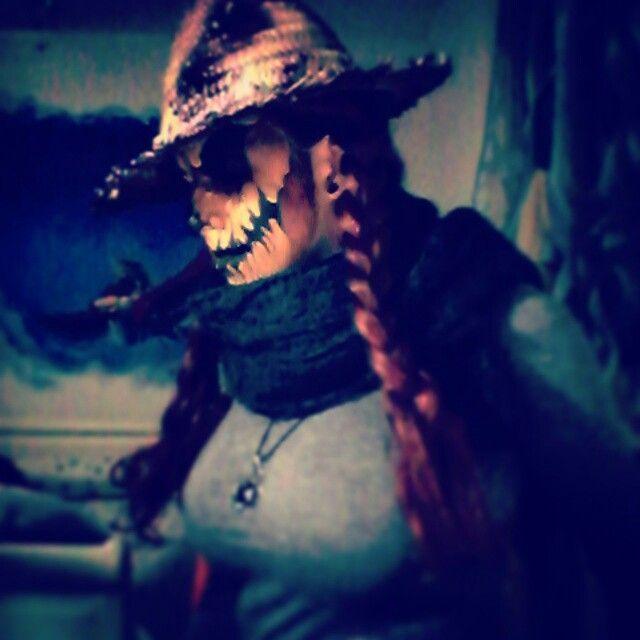 I did this Scarecrow makeup  Scary version Halloween _ Braid - scarecrow halloween costume ideas