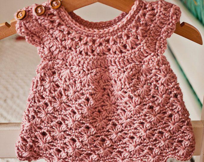 Crochet dress PATTERN - Rose Blush Dress (sizes up to 7 years ...