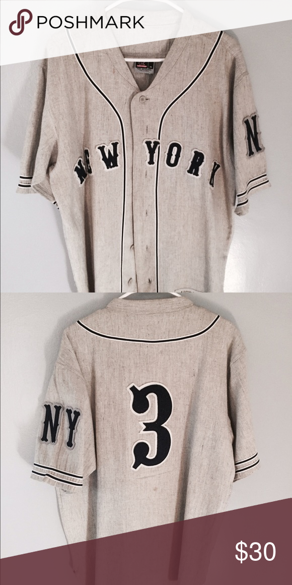 Vintage Baseball New York Yankees Jersey New York Yankees Vintage Baseball  Jersey. Size Medium but runs a bit big . Message me for details. Shirts 1e9e831bbef