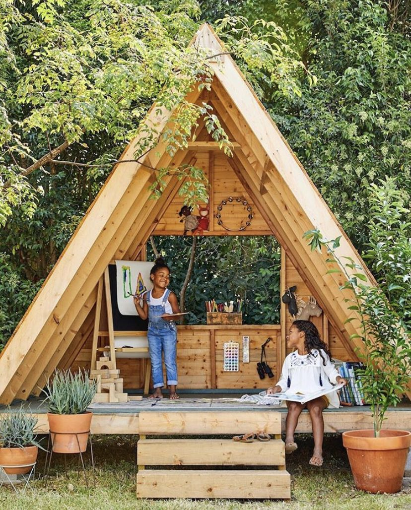 15 of our favorite modern outdoor playhouses diy
