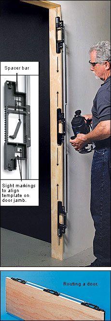 The Original Carey Template Hinge Mortising System Locker Storage Templates Cool Tools