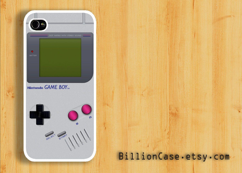 Game Boy Nintendo Game Console -  iPhone Case 5 4 / 4s Galaxy Hard Plastic Case Rubber Case. $15.99, via Etsy.