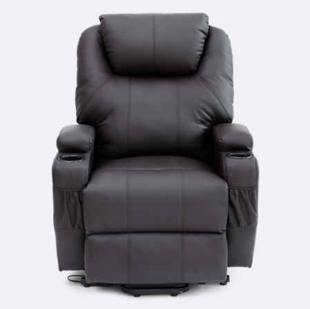 Cool Cinemax Leather Rise Recliner Chair With Massage And Heat In Machost Co Dining Chair Design Ideas Machostcouk