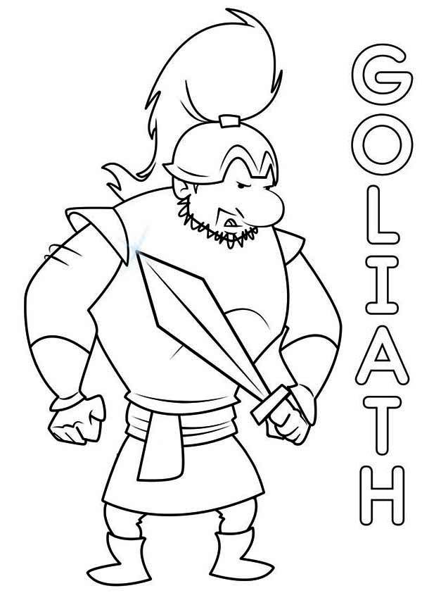 David Goliath Printable Coloring Pages David And Goliath Coloring Page