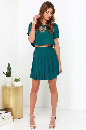541e79316d4a1 One and the Same Dark Teal Two-Piece Dress in 2019 | #Outfit on ...