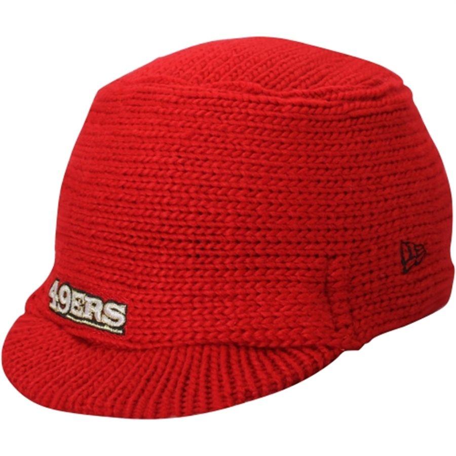 New Era San Francisco 49ers Women S Scarlet Snow Sergeant Knit Visor Hat 49ers Ladies Visor Hats 49ers Outfit