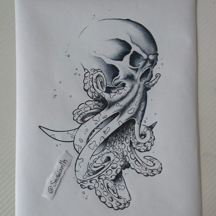 Skull Octopus Morph Thingy Random Daily Drawings Nbsp A4