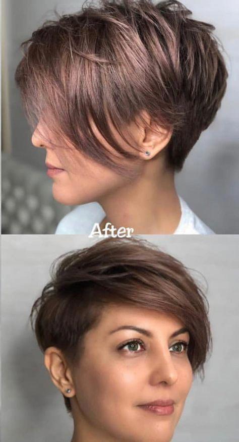 Stylish Easy Pixie Haircut For Women Cute Short Hairstyle Ideas Shorthairidea Cute Hairstyles For Short Hair Hair Styles Short Hairstyles For Thick Hair
