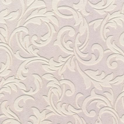 B Q Paste The Paper Scroll Vinyl White Wallpaper Image 1