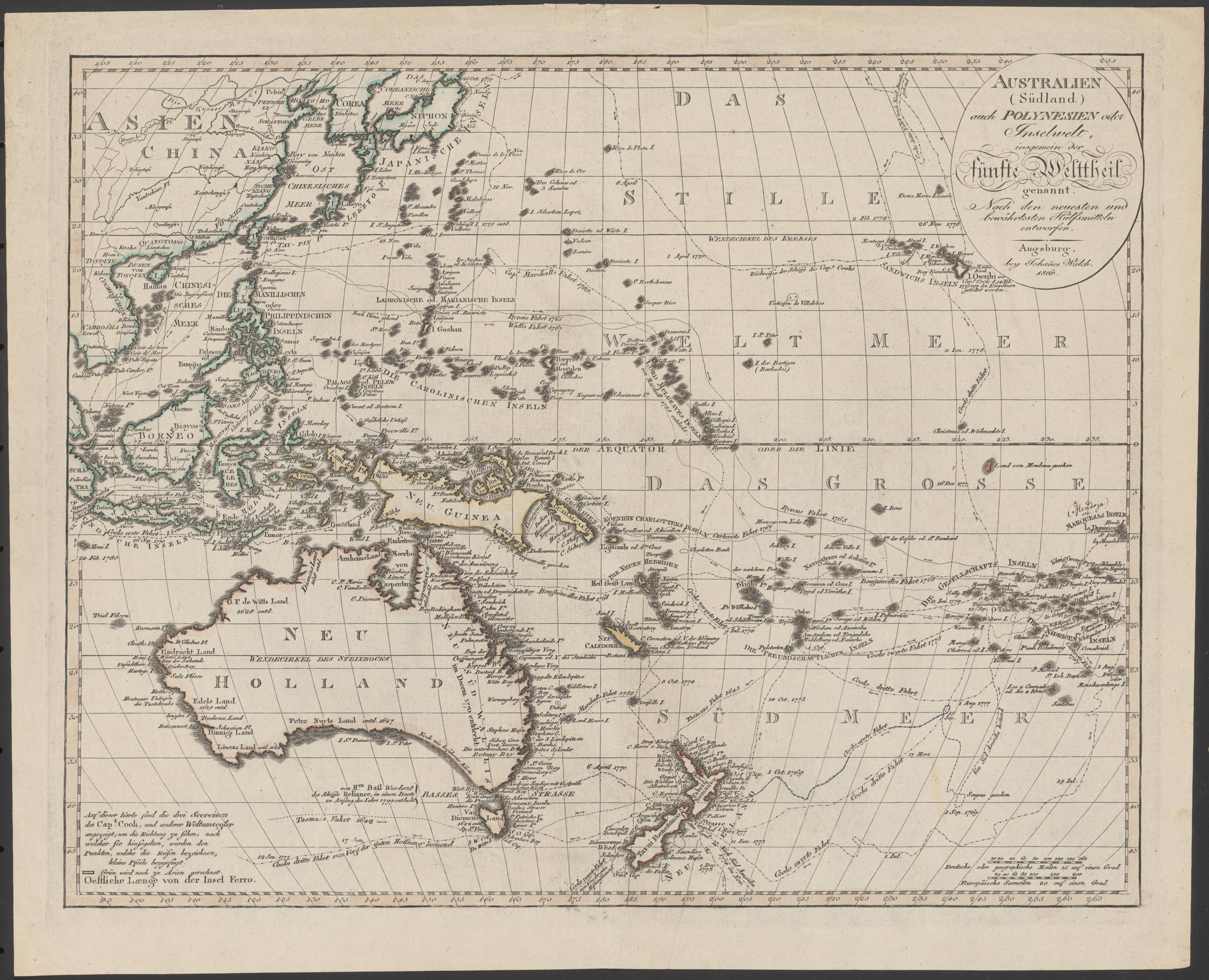 1816 map of australia southeast asia and the islands in southwest 1816 map of australia southeast asia and the islands in southwest pacific sciox Images