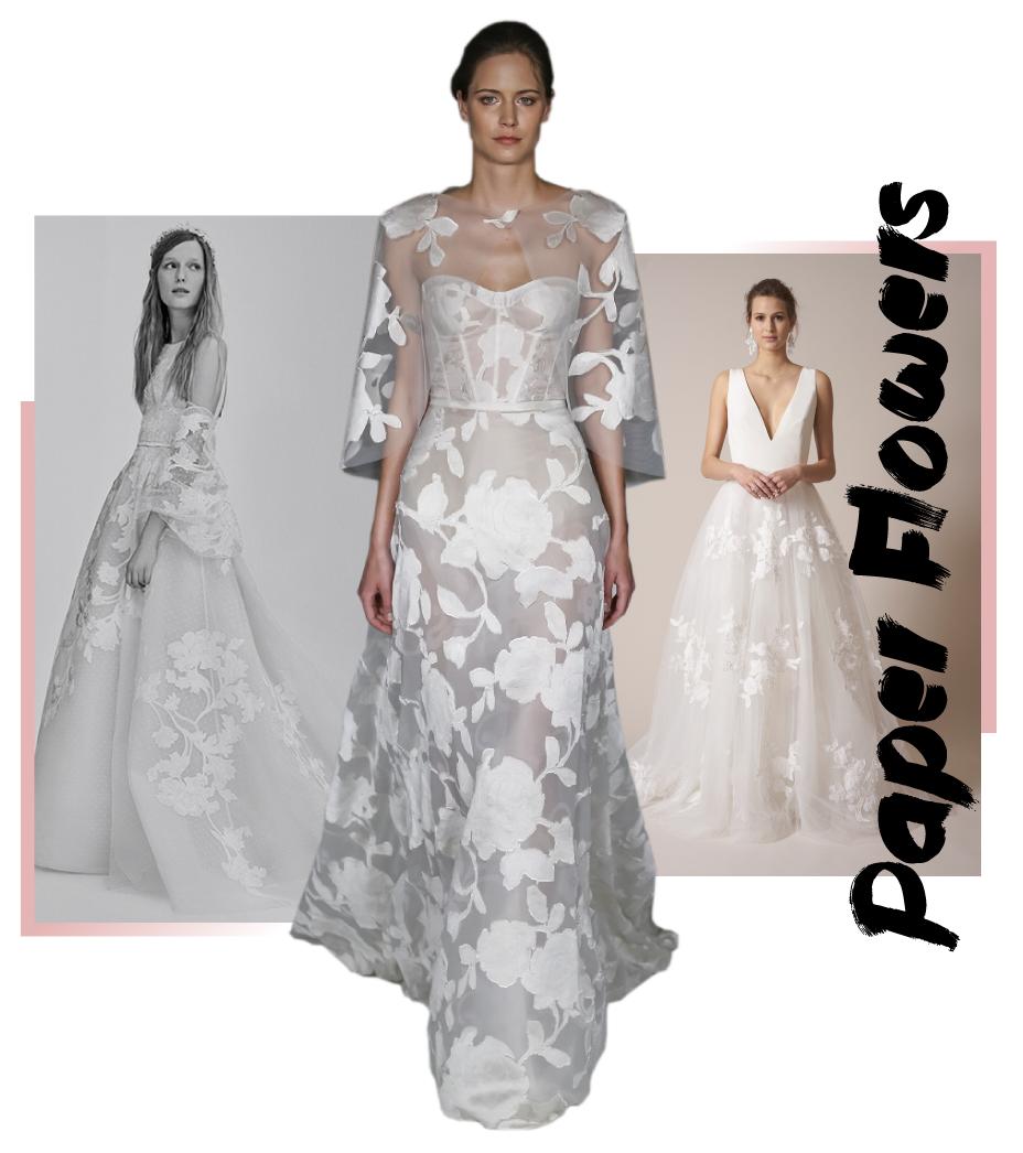 Brautkleid Trends 2017 Paper Flowers Bridal Fashion Trends 2017! The ...