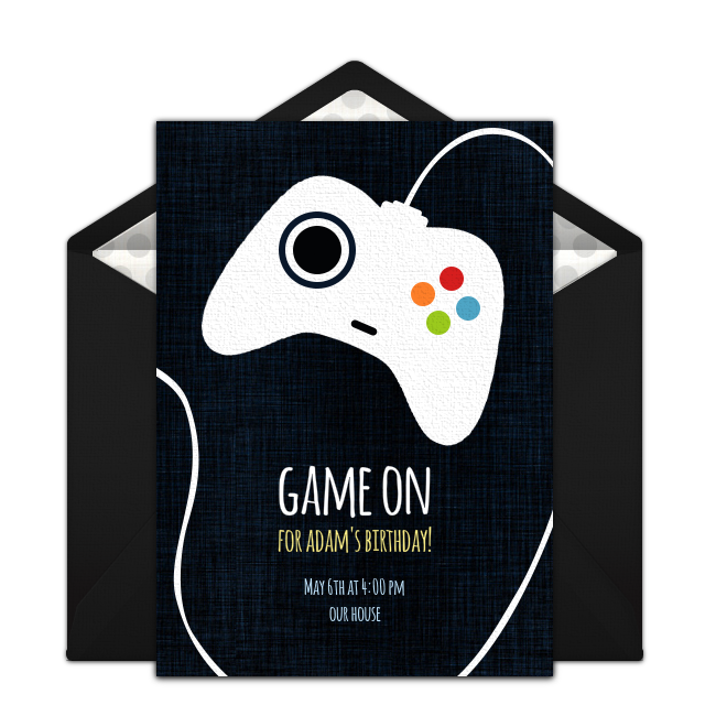 Free Game Controller Invitations Boy Birthday Invitations Party Invite Template Xbox Birthday Party