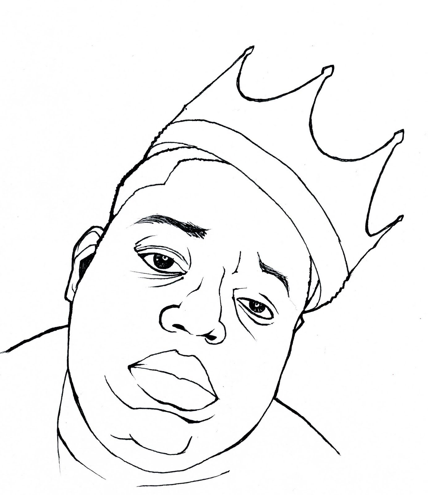 Image Result For Biggie Smalls Easy Drawing Biggie Smalls Art Art Drawings Sketches Simple Easy Drawings