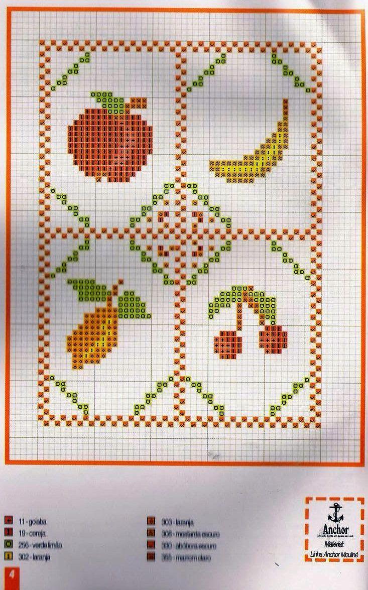 Blog Amor Perfeito Gr Ficos De Ponto Cruz Frutas Verduras E  ~ Ponto Cruz Cozinha Moderna
