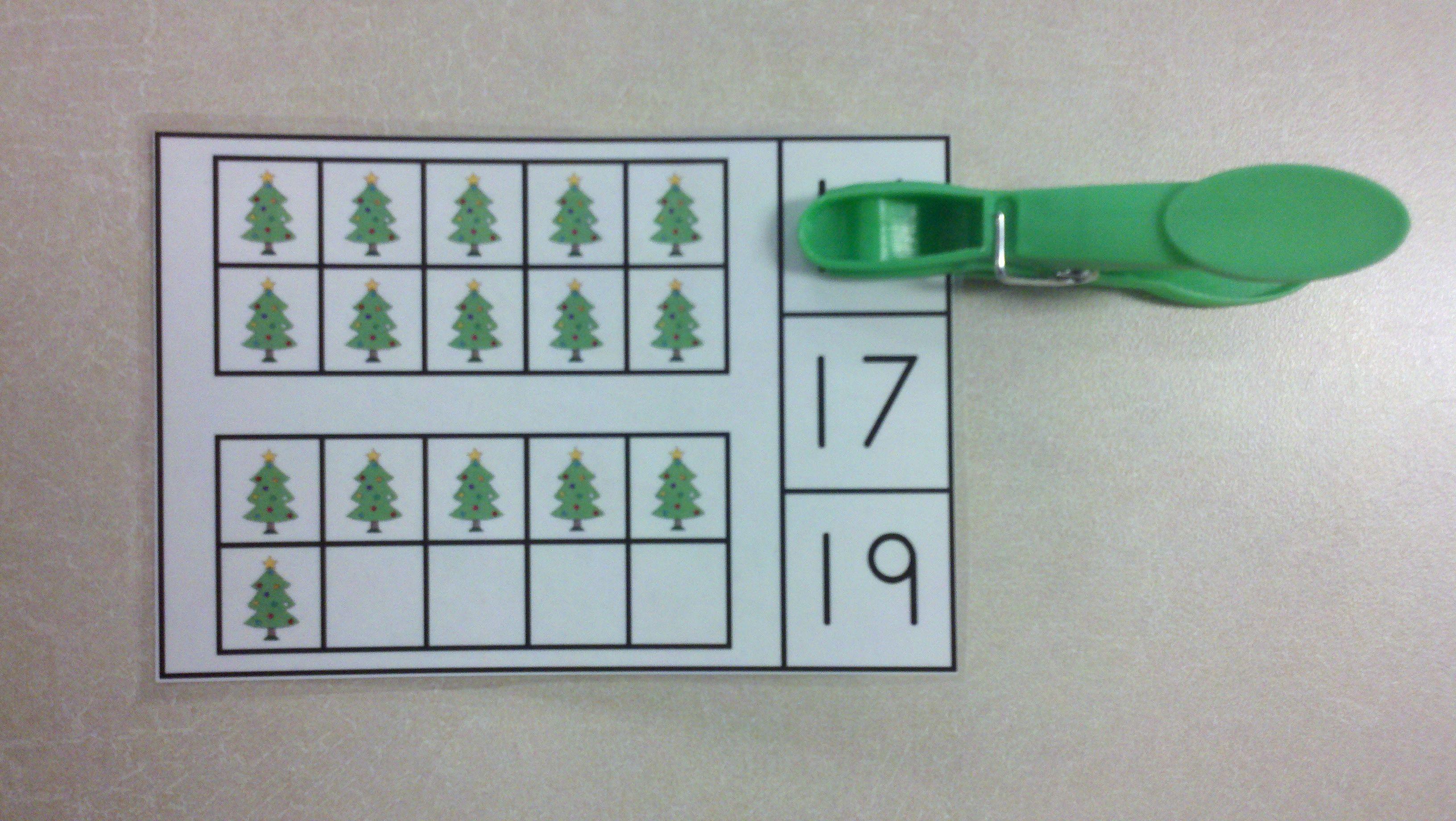 FREEBIE!!! Christmas Tree Ten Frames Math Center (Quantities of 0-20 ...