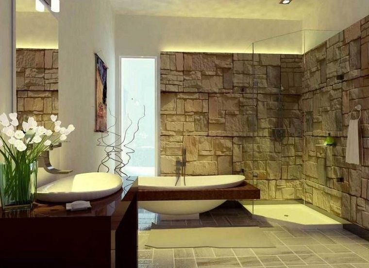 Muebles de baño modernos de estilo rústico - 49 modelos - | Wall ...