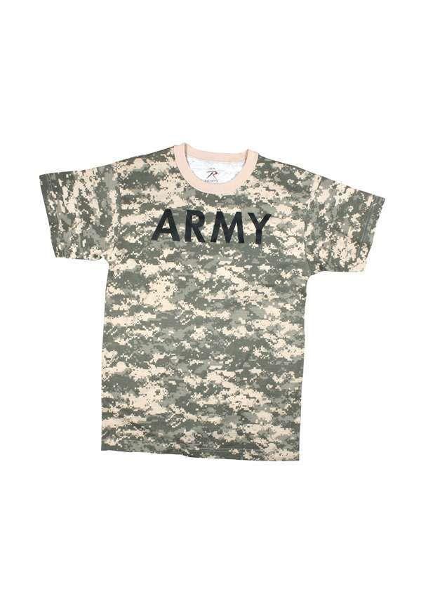 Mens ACU Digital Camouflage Army Tshirt