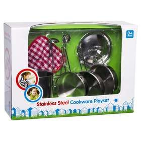 Stainless Steel Cookware Playset Pots Pans Sets