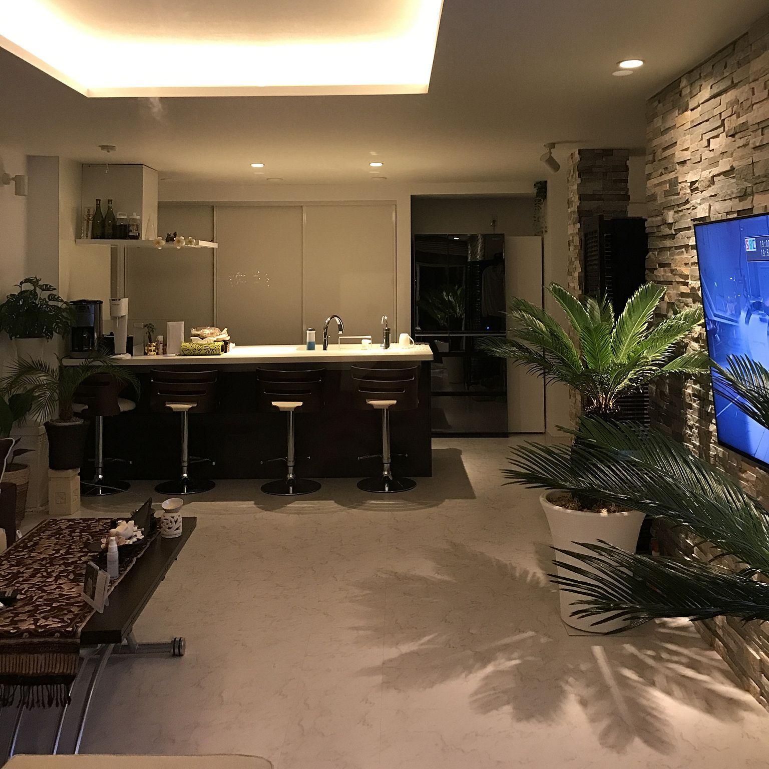 部屋全体 高級感 リゾート風 バリ アジアン などのインテリア実例 17 02 08 19 56 45 Roomclip ルームクリップ リビングルームのデザイン アジアン リビング インテリア 実例