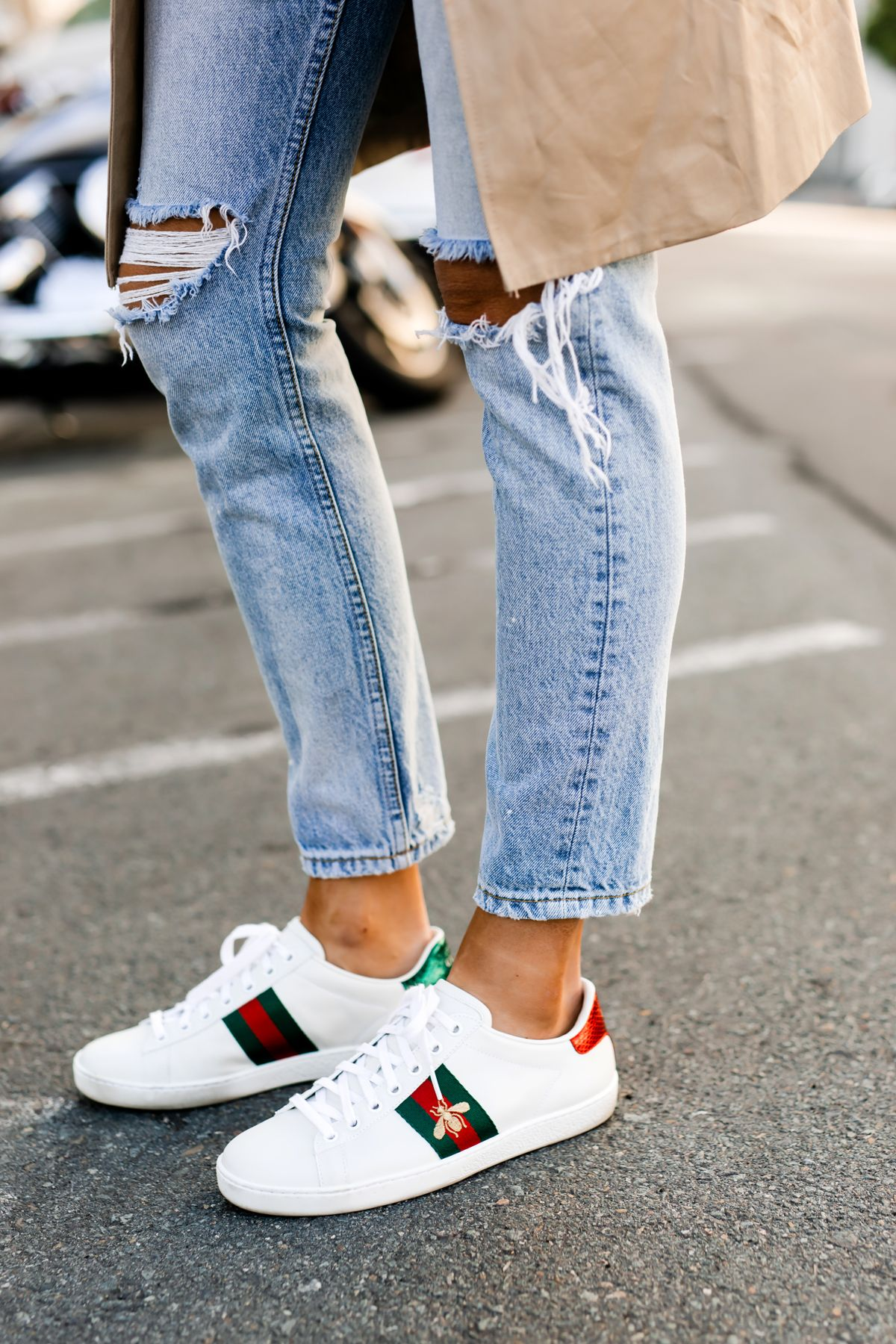Fashion Jackson Honest Review of Gucci Ace Embroidered Sneakers 7