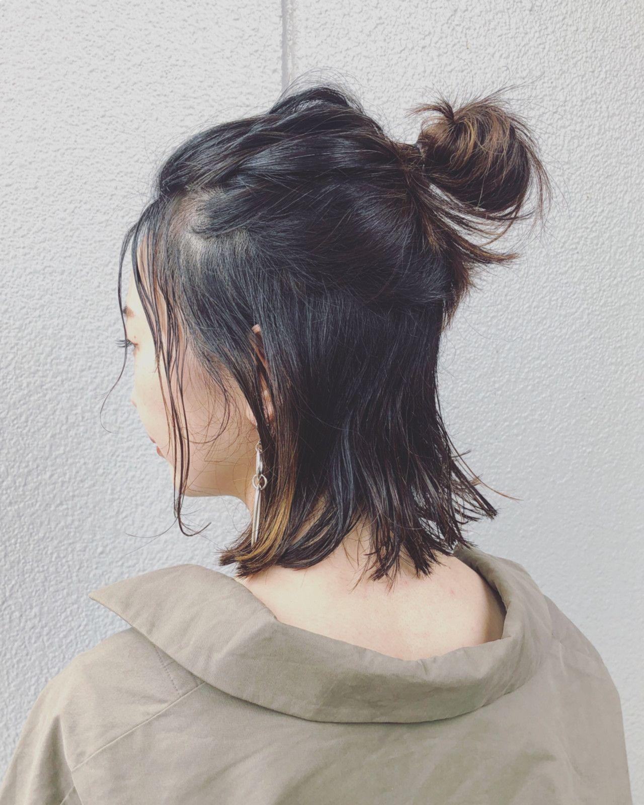 セルフでできる 簡単前髪なしのヘアアレンジカタログ 短い髪のため