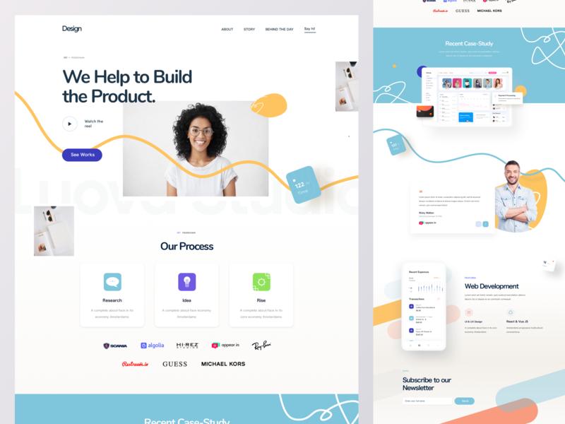 Sass Landing Page Landing Page Startup Design Landing Page Design