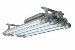 Explosion Proof Fluorescent Lights for Paint Booths - 4 foot - 4 lamp - 347 Volts AC