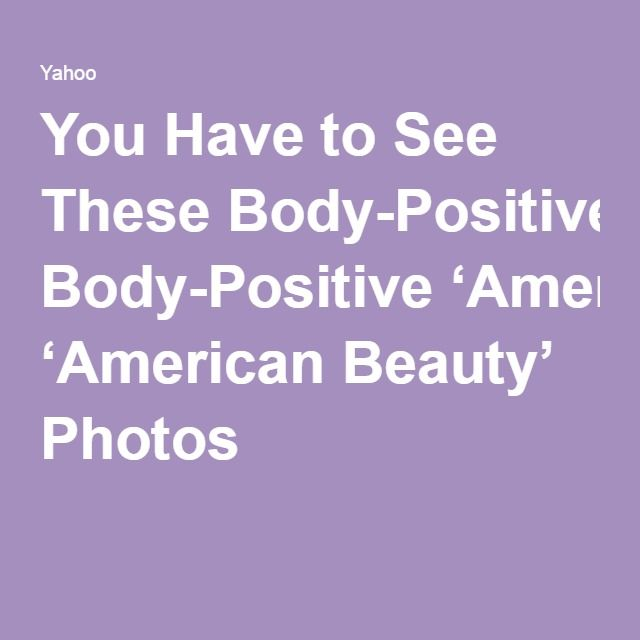 You Have to See These Body-Positive 'American Beauty' Photos