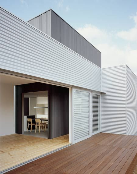 J House By Isolation Unit And Yosuke Ichii Why Do I Love Panels Of Corrugated Metal So Much House Cladding House Exterior Modern House Exterior