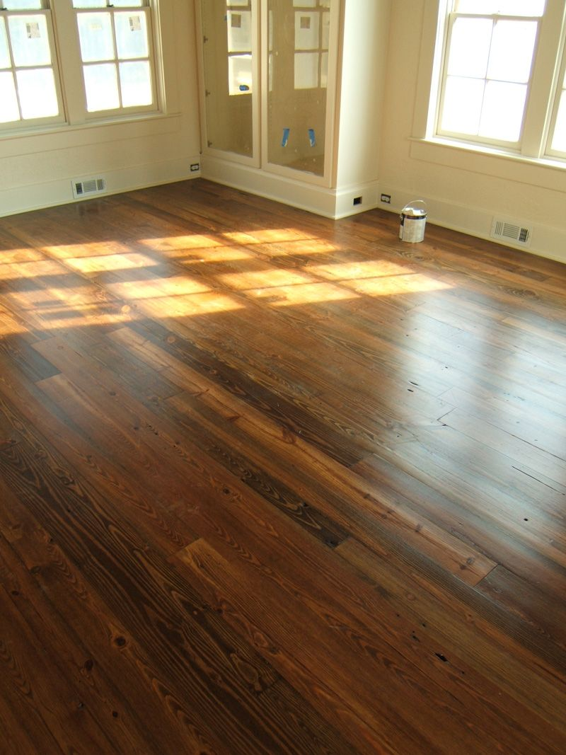 We Re Re Doing Our Hardwood Floors This Weekend Lord Help Us This Would Be A Good Color Heart Pine Flooring Wood Floor Colors Warm Wood Flooring