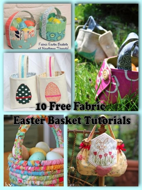 10 free easter basket tutorials easter baskets easter and tutorials sewing projects 10 free easter basket tutorials negle Image collections