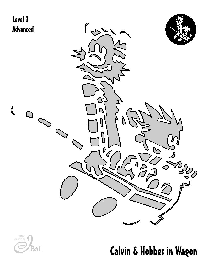 Calvin And Hobbes Pumpkin Carving Templates - Engineering and ...