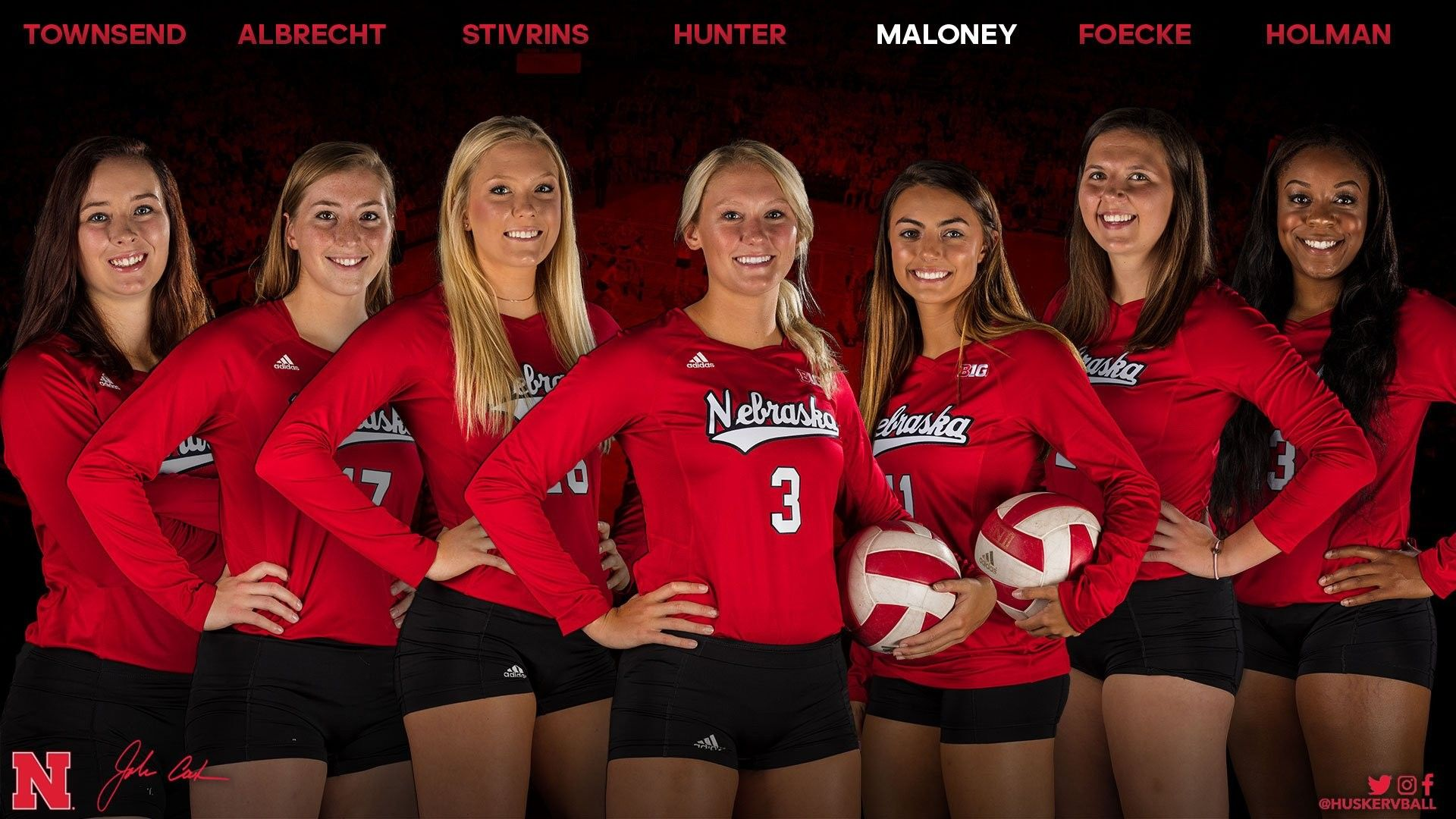Pin By Tim On Huskers Such Volleyball Inspiration Volleyball Outfits Cornhuskers