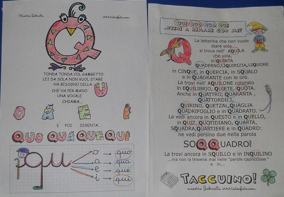 Tate fate 36 idee italiano di pilly learning for Parole capricciose esercizi