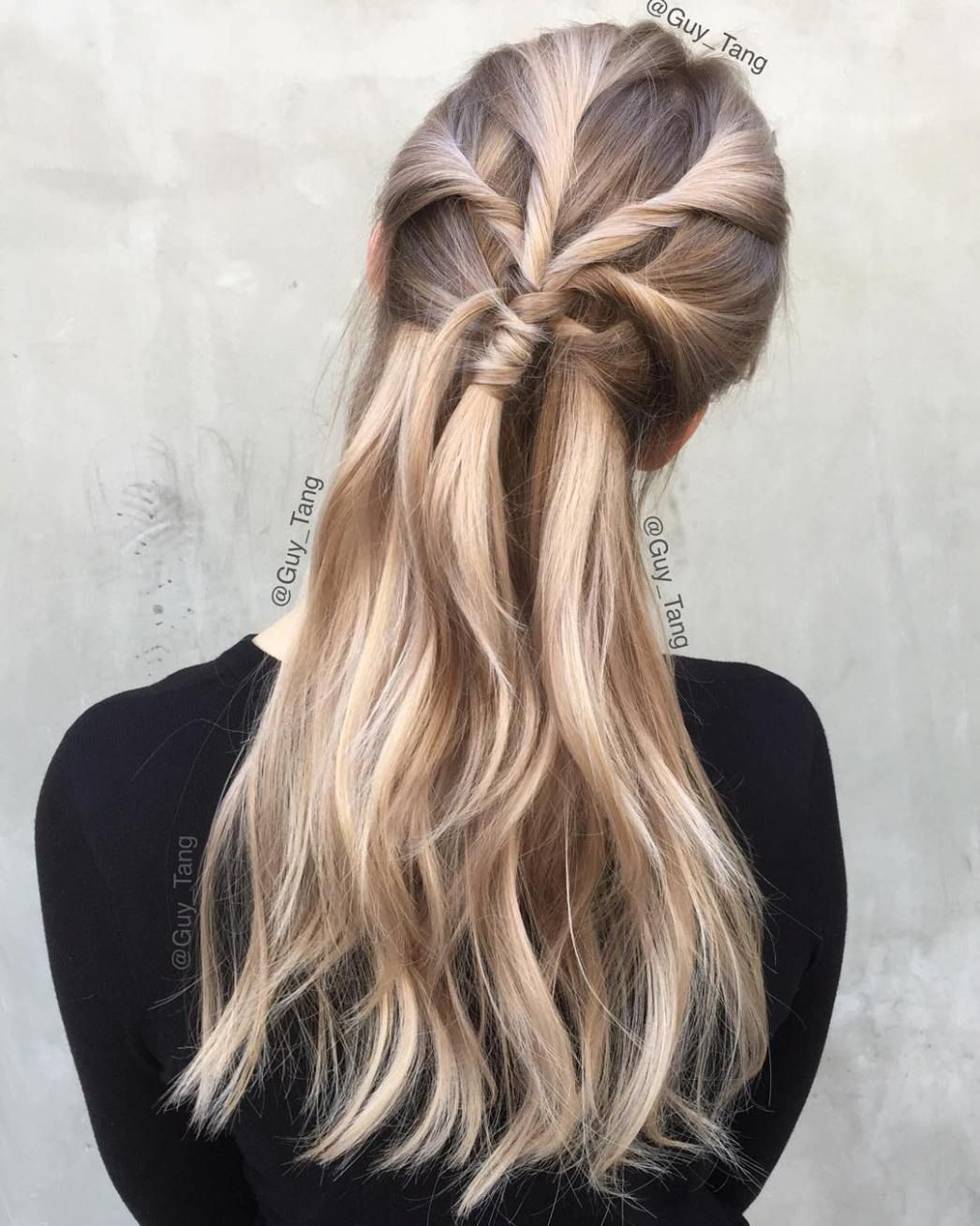 long hairstyles you will want to rock immediately half updo