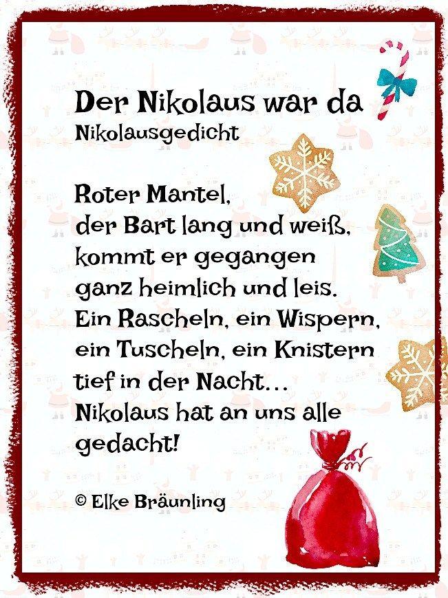 Der Nikolaus war da. Kleines Nikolausgedicht * Elkes Kindergeschichten #nikolausgeschenk