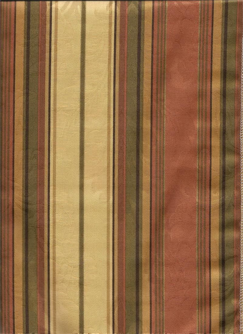 Dorothea Stripe India Sky Gold Green Black Coral Pink Striped - Black and gold stripe drapery fabric