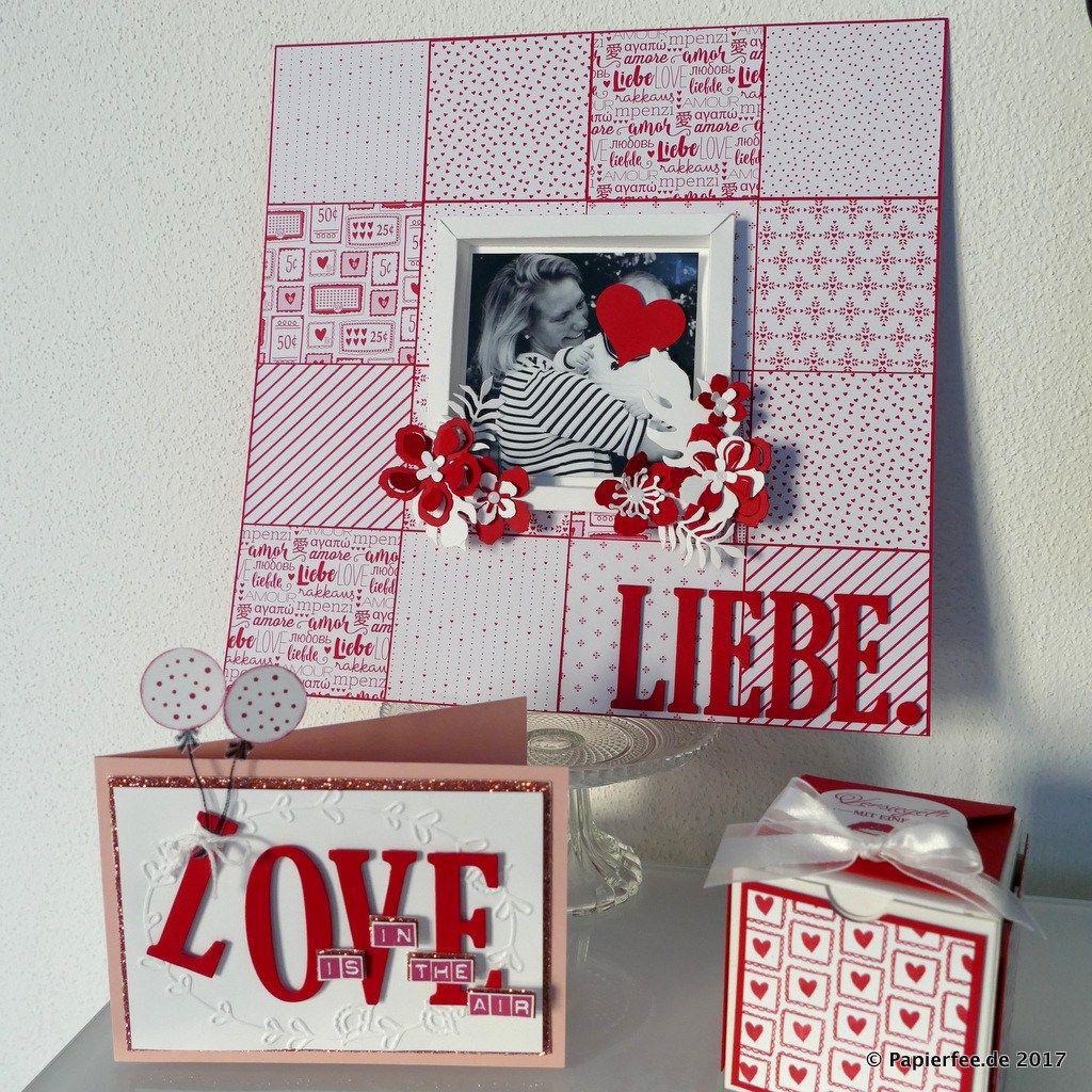 Stampin\'Up!, Karte zum Valentinstag , Layout, Liebe, Scrapbooking ...