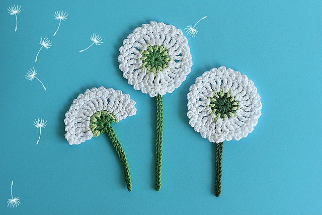 Dandelion Flower Applique Pattern By Olga Loginova Dandelion