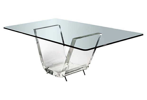 40 X 20 Thick V Dining Table Base On Onekingslane Com Dining