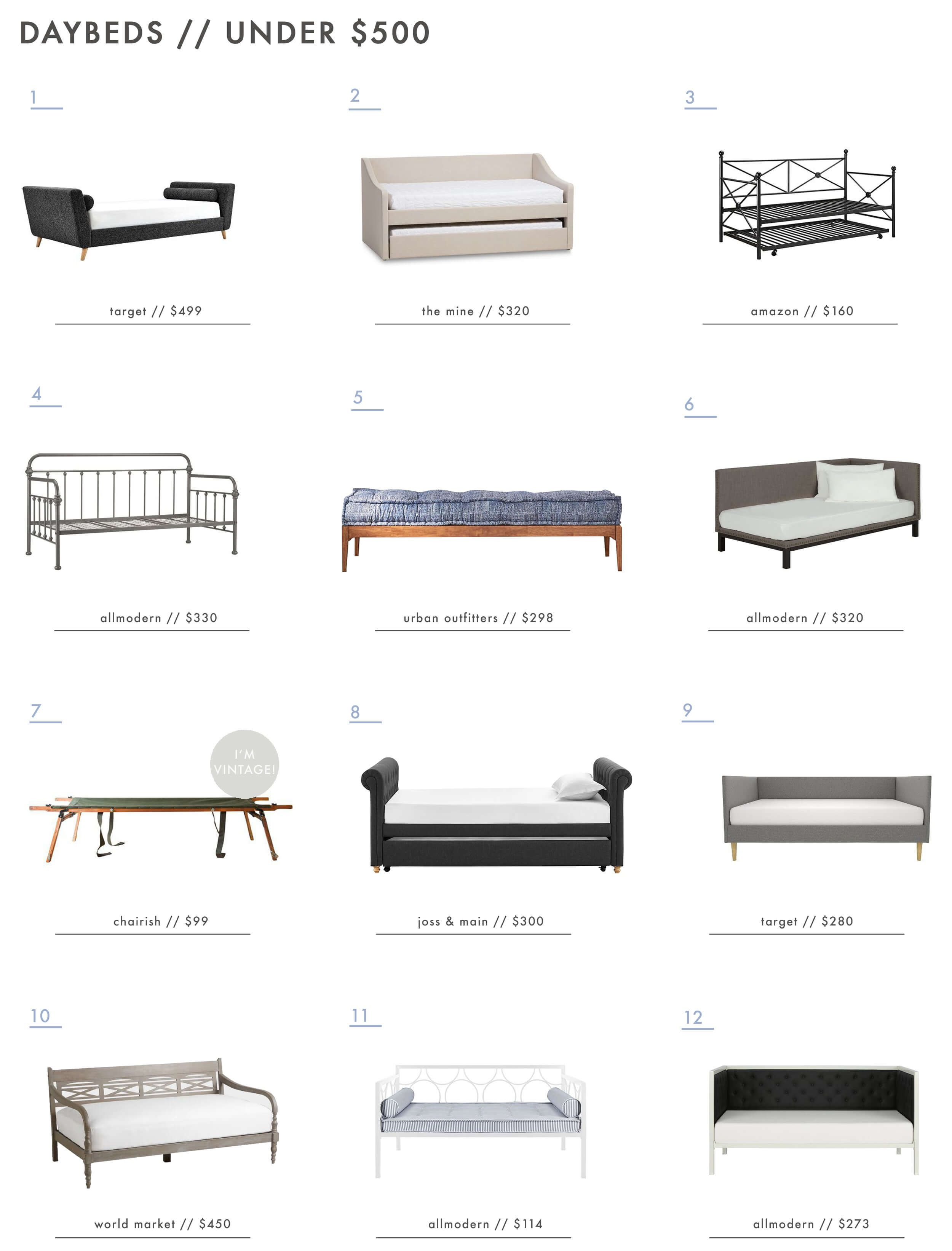 a roundup of 36 of our favorite daybeds emily henderson day beds rh pinterest co uk