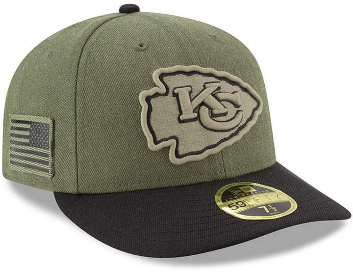 New Era Kansas City Chiefs Salute To Service Low Profile 59FIFTY Fitted Cap  2018 58998b07973