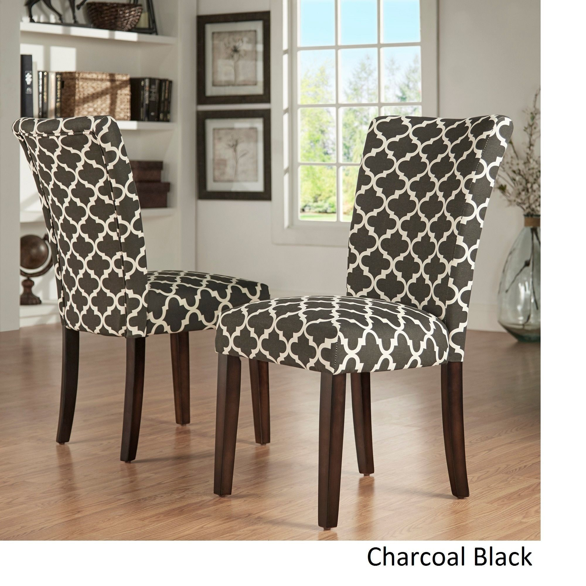 catherine moroccan pattern fabric parsons dining chair by inspire q rh ar pinterest com