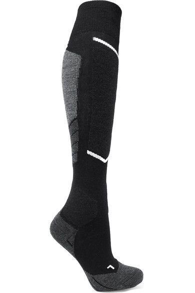 grootste korting mannen / man nieuwe hoge kwaliteit FALKE Ergonomic Sport System - Wool-blend Ski Socks - Black ...