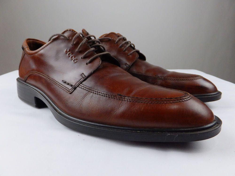 d2c75470 ECCO COPENHAGEN Brown Oxford Leather Shoe Men EU 45 US 11 11.5 ...