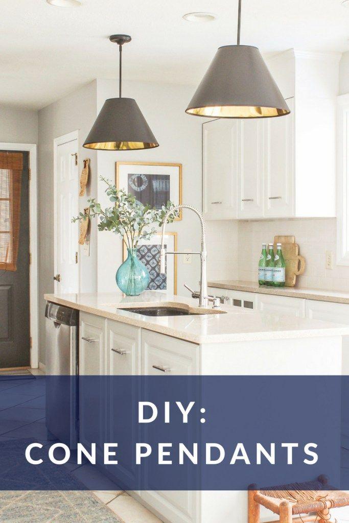 diy cone pendant lights cheap and easy to make designingvibes rh pinterest com