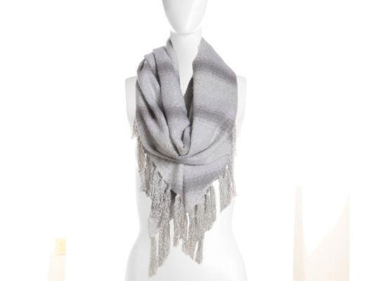 Women's Mix No. 6 Ombre Stripe Blanket Scarf - White/Grey
