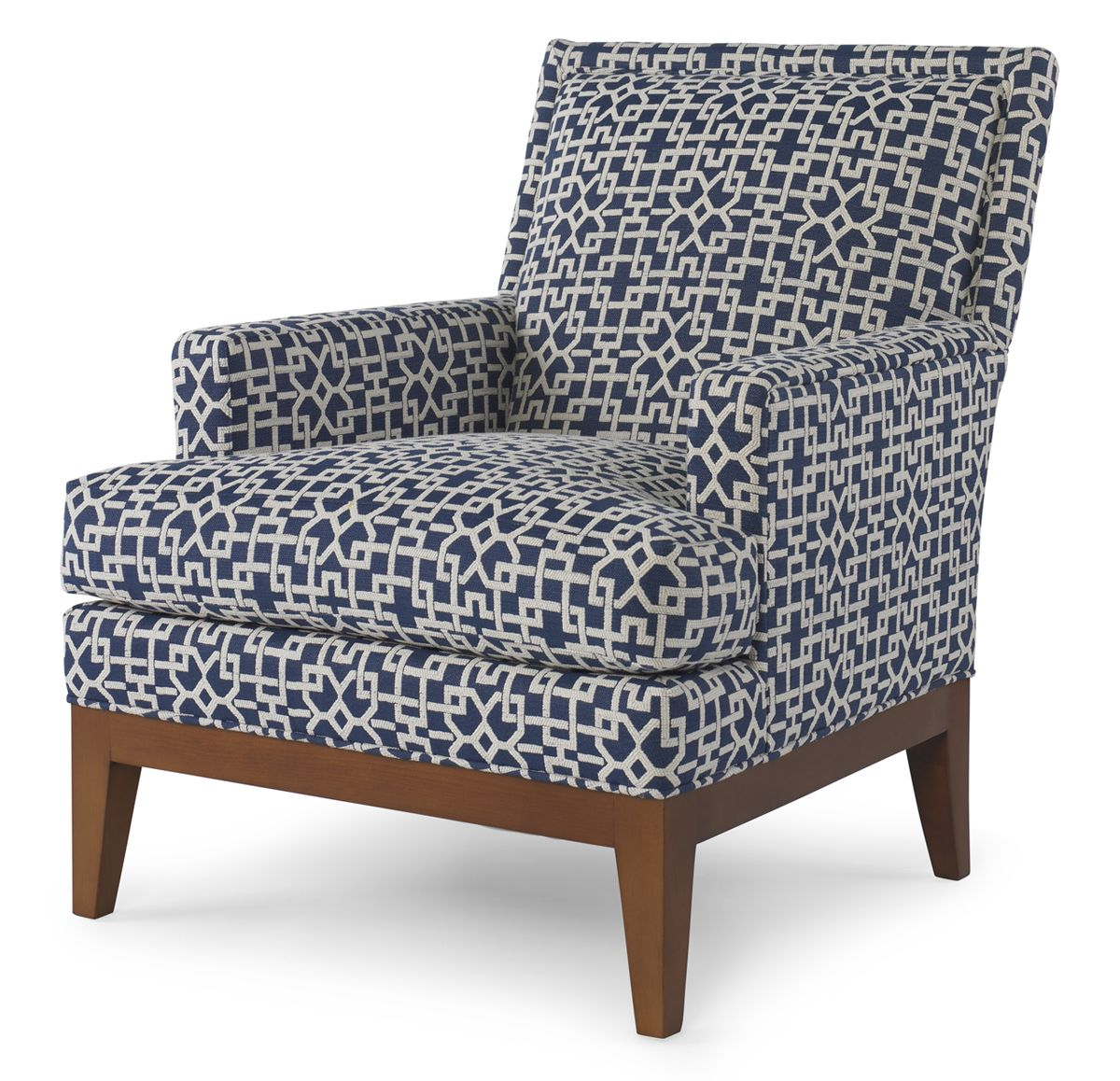 Pearson 328 Chair In Navy And Ivory Fretwork Furniture