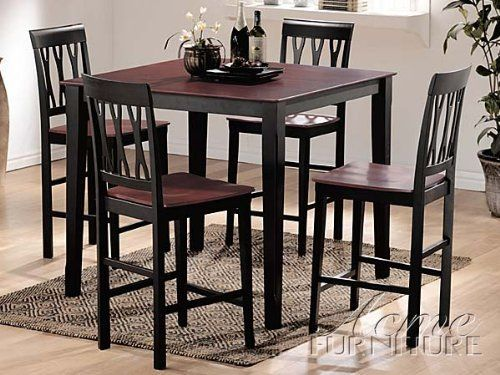 5pc pack espresso black finish counter height table ac 017002 by rh pinterest com