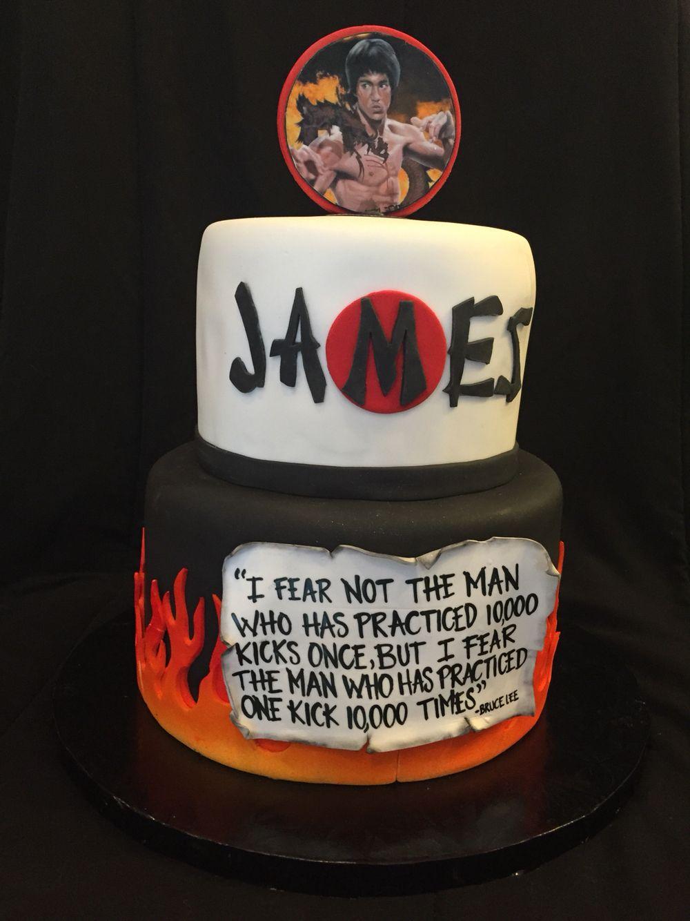 Bruce Lee Cake By IG cakebaby1130 Anniversary cake